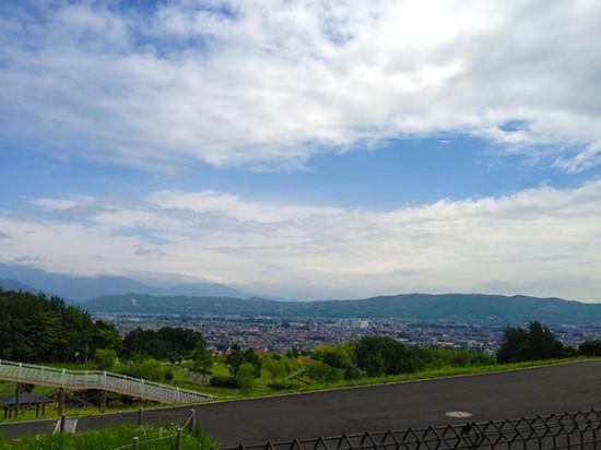 クロスバイクで行ったおだわら諏訪の原公園からの景色
