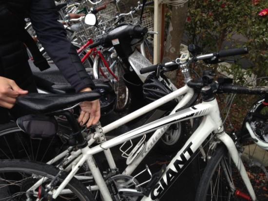2015年初ライドはクロスバイクで。