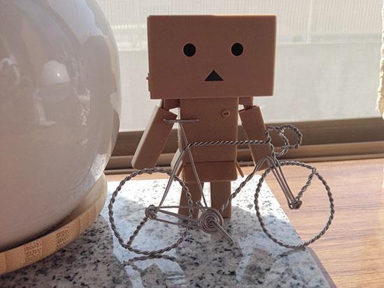 ダンボーとワイヤーロードバイク