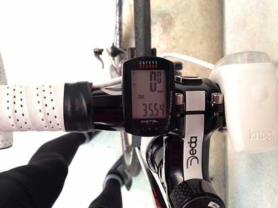 BOMA FENTEで多摩川サイクリングロードを35km走った証拠写真