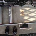 三本ローラー台と650CロードバイクFENTE