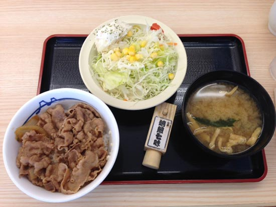 松屋のプレミアム牛丼