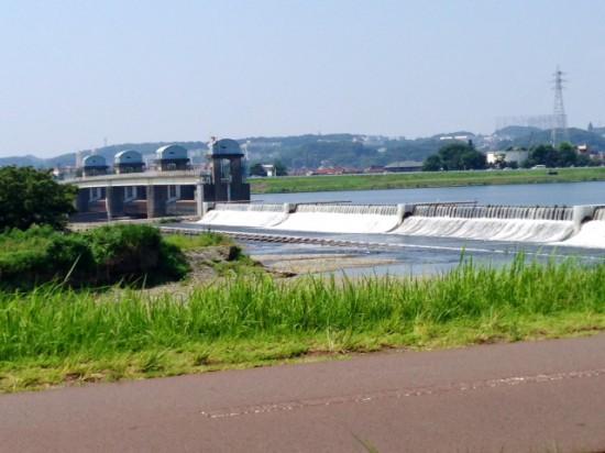 650Cロードバイクで多摩サイに行った時の多摩川の写真