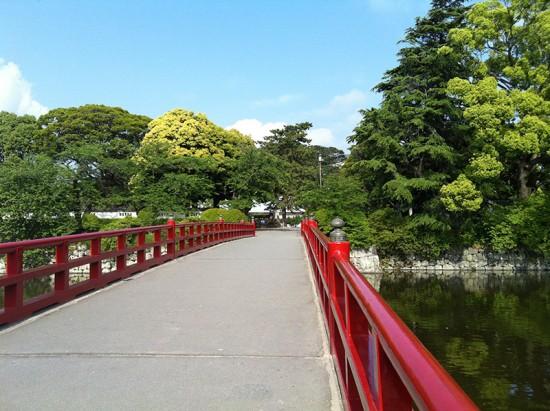 クロスバイクで小田原城の学橋に行った時の画像