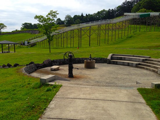 クロスバイクで行ったおだわら諏訪の原公園の井戸の写真