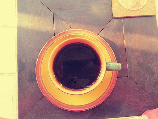 ガーデン&クラフツカフェのコーヒーの写真