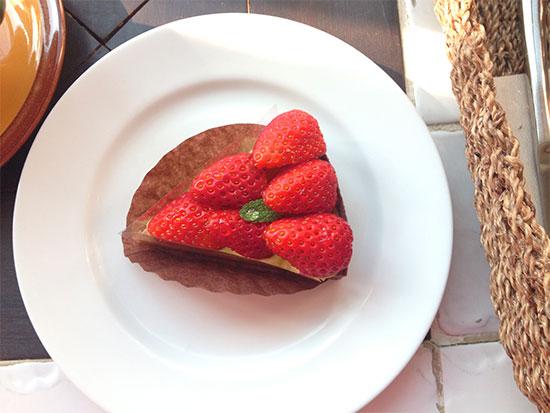 ガーデン&クラフツカフェのケーキの写真