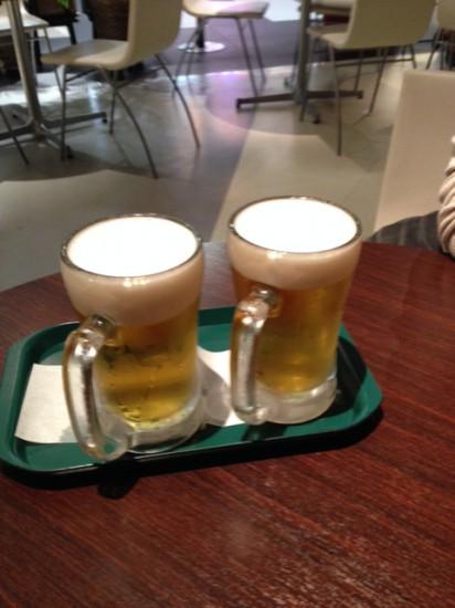 羽田空港のプロントで飲んだビール