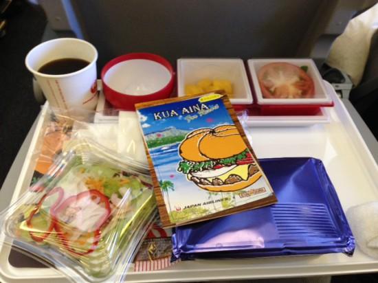 羽田発ハワイ行きJAL機内食のkuaaina