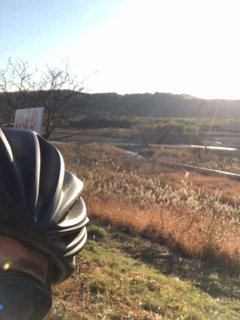 650Cロードバイクで2016年正月に多摩川サイクリングロードを走った写真